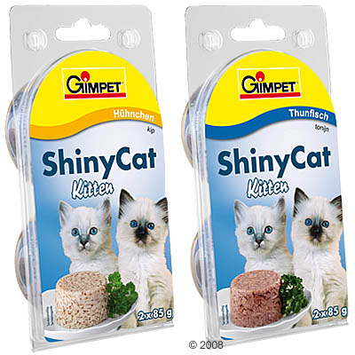 gimpet shiny cat kitten 6 x 85 g     kip