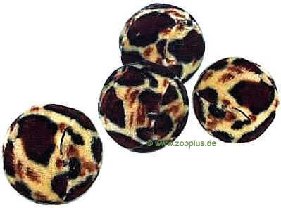 Vier trixie ballen in een luipaard look     4 stuk van kantoor artikelen tip.
