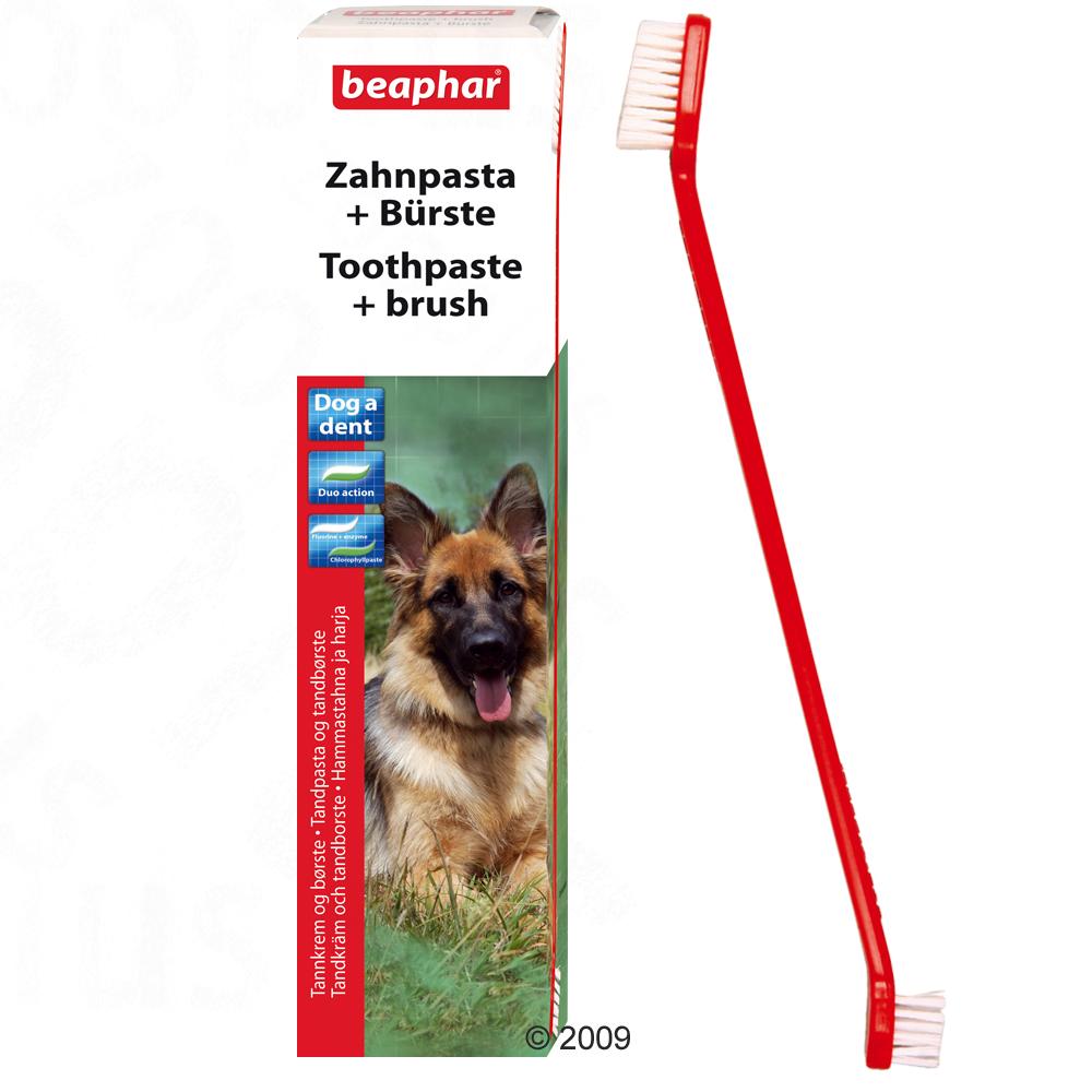 beaphar dog a dent tandenborstelset      100 g   tandenborstel