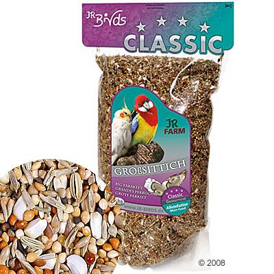 jr birds classic  voer  voor grote parkieten     4 kg