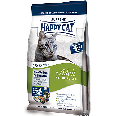 happy cat fit & well adult weide lam     1 kg