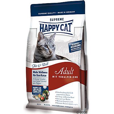 happy cat fit & well adult voor alpen rund     1 kg