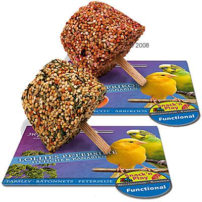 jr birds lollies voor grasparkieten & kanaries     2 stukken abrikoos
