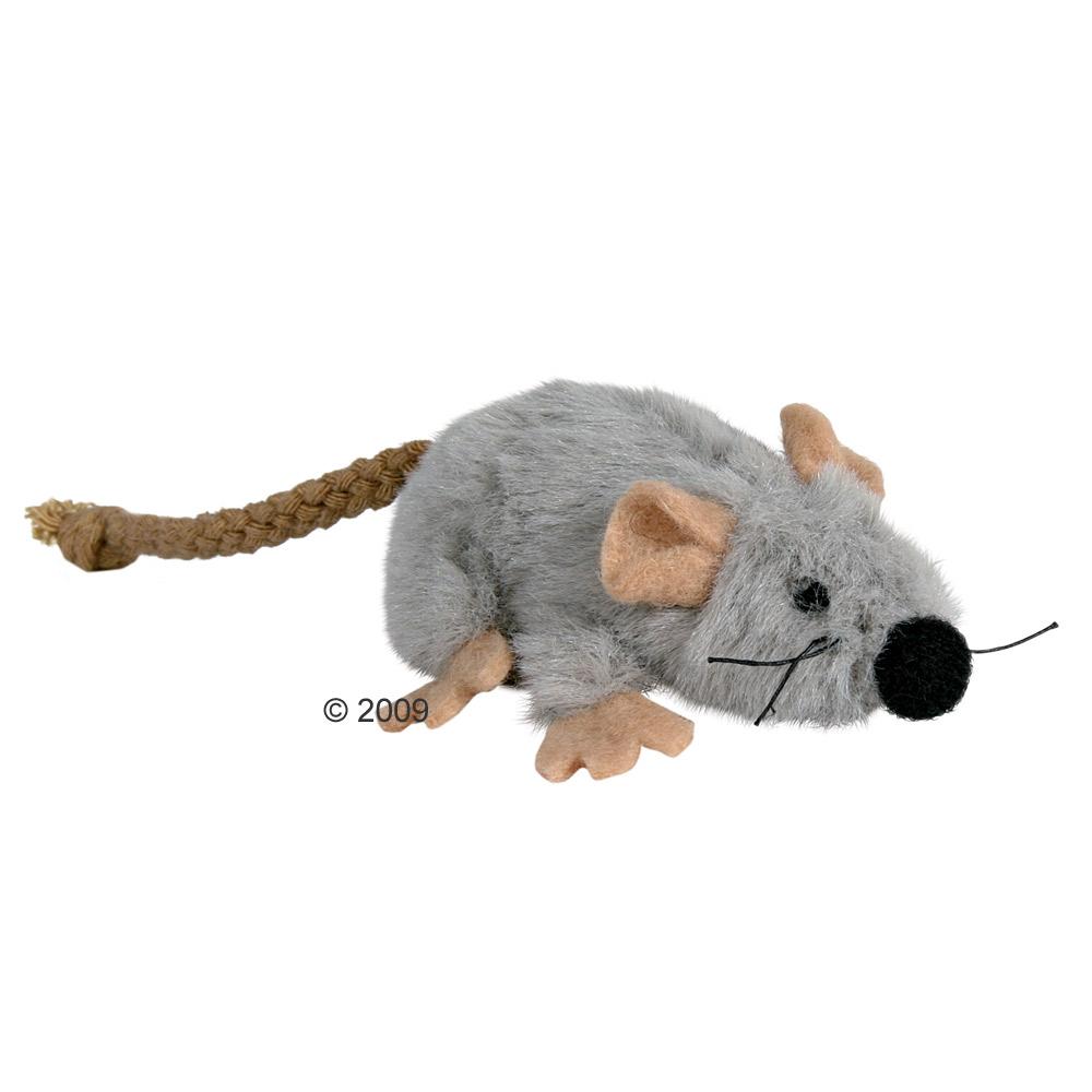 kattenspeelgoed  muis van pluche met kattenkruid     3 x 7 cm