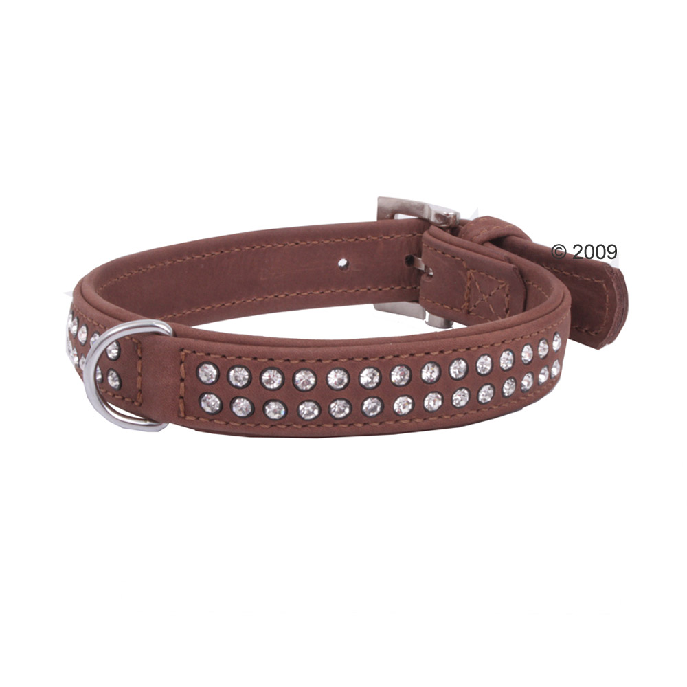 buffelleren hondenhalsband buffalo strass     32 cm lang, 12 mm breed