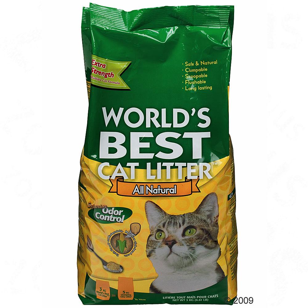 World's best cat litter extra strength kattenbakvulling     3 kg van kantoor artikelen tip.