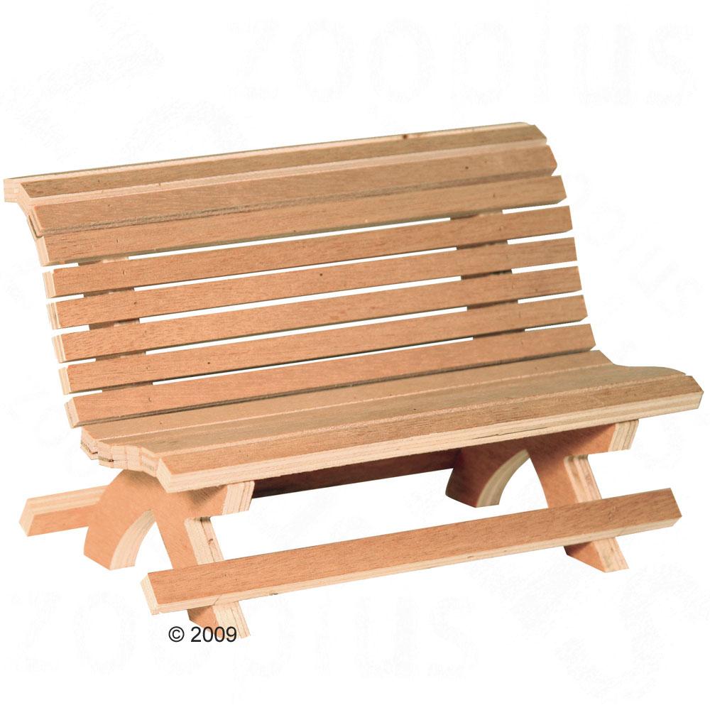 houten bankje voor knagerdieren l 30 x b 15 x h 18 cm deze houten bank ...