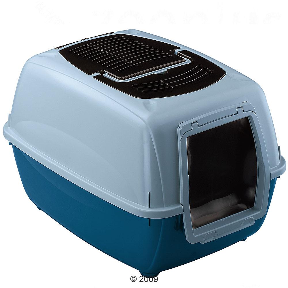 genica kattenbak     lichtblauw/donkerblauw
