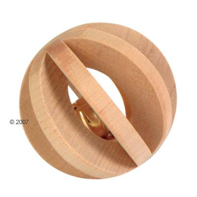 trixie houten bal met belletje