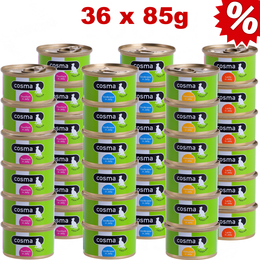 Voordeelpakket cosma original in jelly 36 x 85 g     zalm van kantoor artikelen tip.