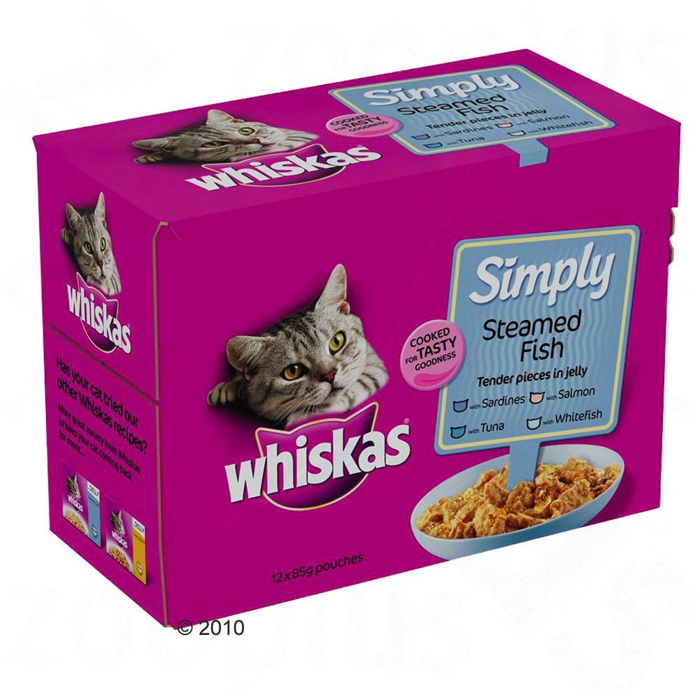 Whiskas maaltijdzakjes simply 12 x 85 g     gestoomde vis van kantoor artikelen tip.