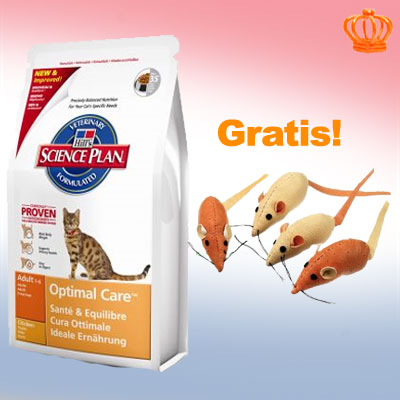 10 kg hill's feline   4 muizen met catnip gratis!     sensitive stomach adult (2 x 5 kg)   4 muizen