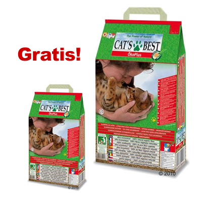 cat's best eco plus kattengrit 40 l   5 l gratis!     40 l   5 l gratis!