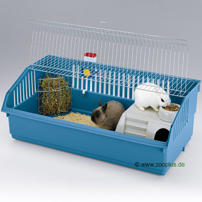 ferplast konijnenkooi rabbit 100 deluxe     onderbak beige