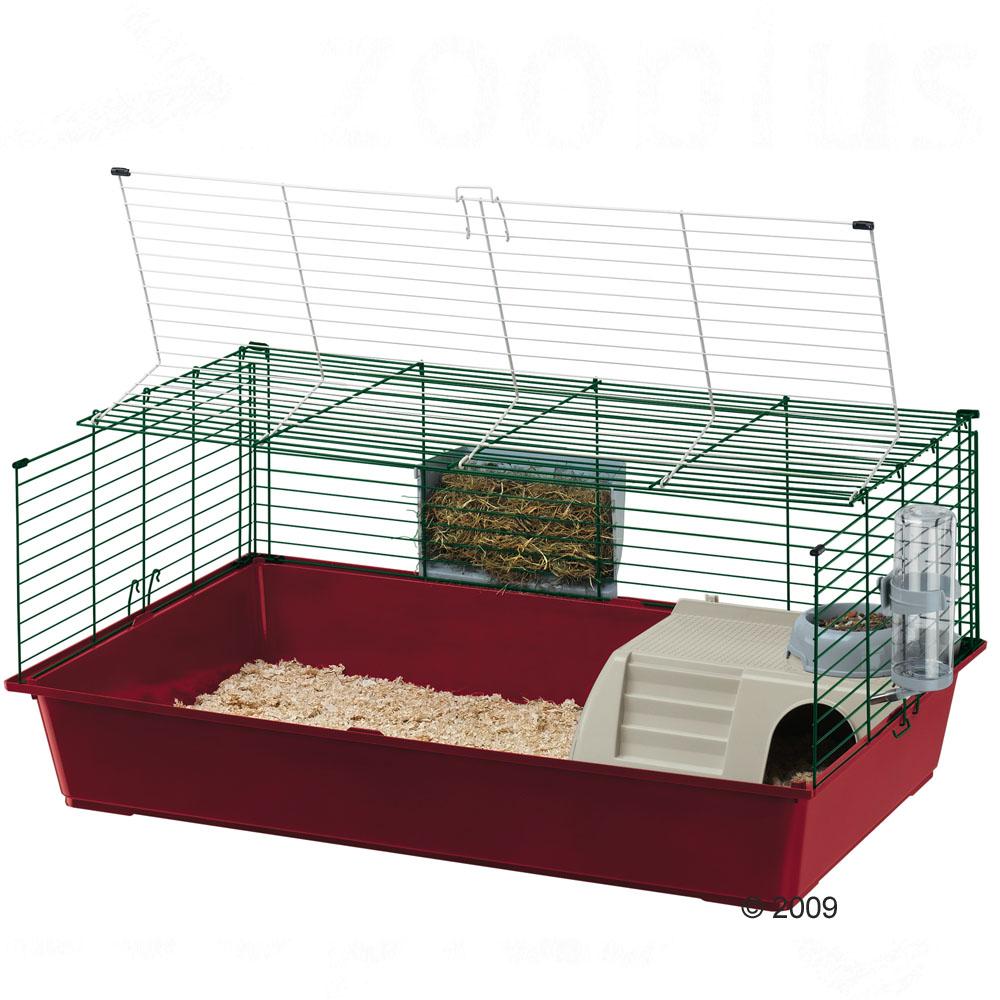 ferplast konijnen  en caviakooi rabbit 100      onderbak grijs