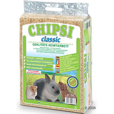 chipsi classic knaagdierenstrooisel      60 liter (ca. 3,6 kg)