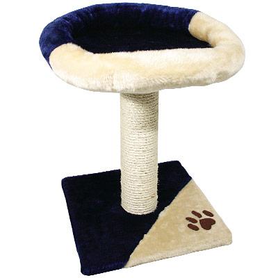 kitten krabpaal petit     donkerblauw/beige