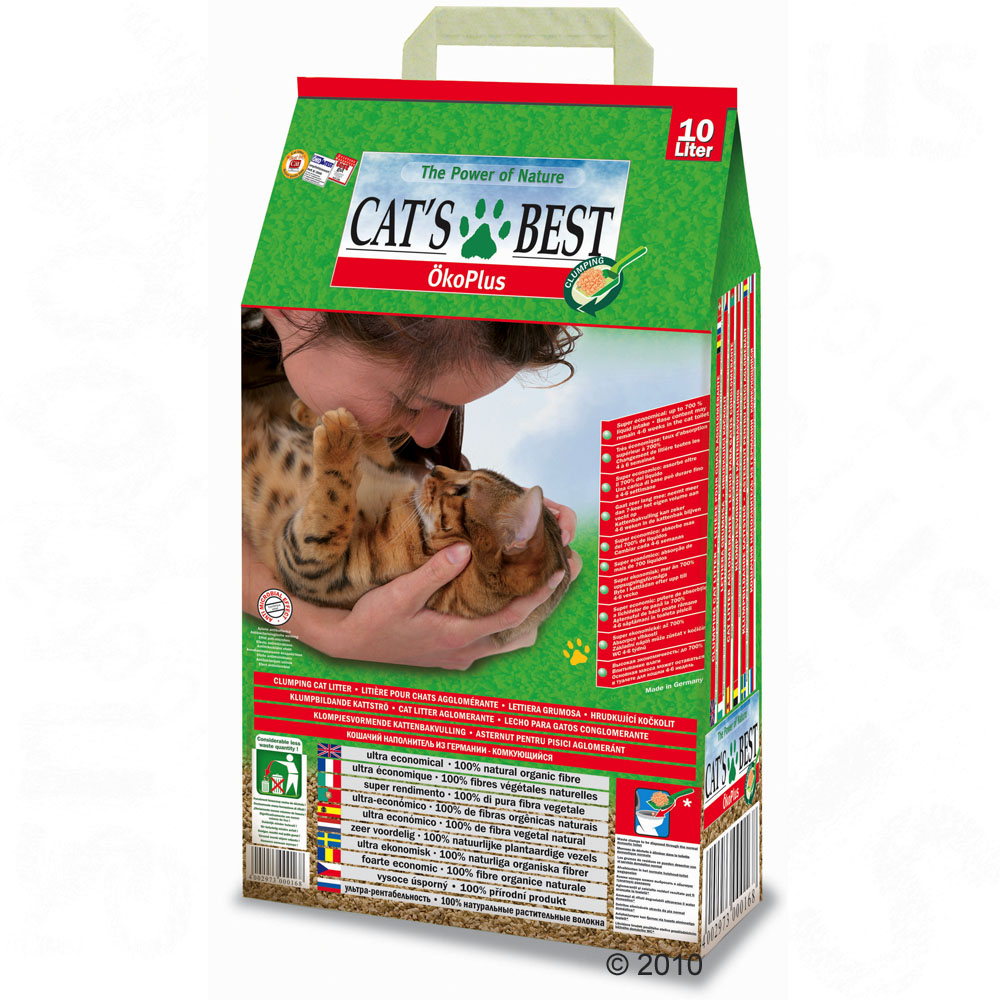 cat's best eco plus kattengrit      10 l (ca. 4,5 kg)