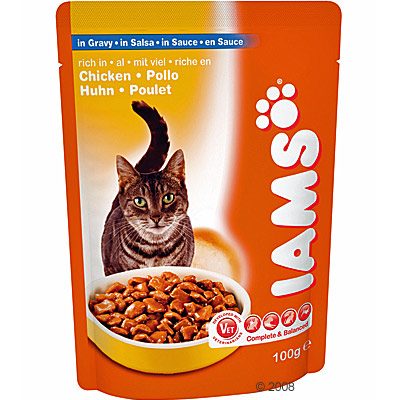 iams adult 6 x 100 g     vis in saus