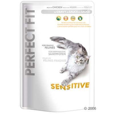 perfect fit sensitive 6 x 85 g     sensitive kip in saus