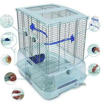 Vogelkooi hagen vision ii model s01     accessoires blauw, traliesafstand ca. 10 mm van kantoor artikelen tip.