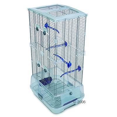 Vogelkooi hagen vision ii model s02, hoog     accessoires blauw, traliesafstand ca. 10 mm van kantoor artikelen tip.