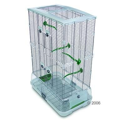 hagen vision ii model m12, middelgrote vogelkooi hoog     accessoires groen, traliesafstand ca. 15   20 mm