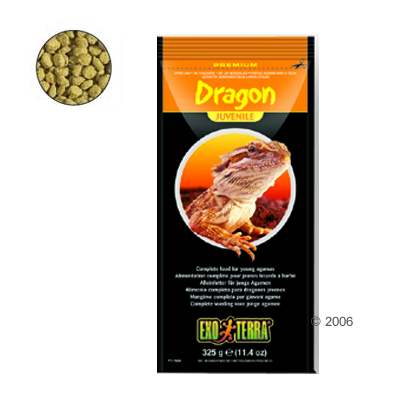 hagen exo terra dragon juvenile reptielenvoer     325 g