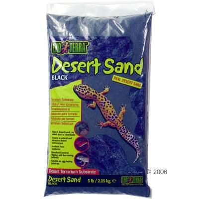 hagen exo terra desert zand terrariumsubstraat zwart     4,5 kg
