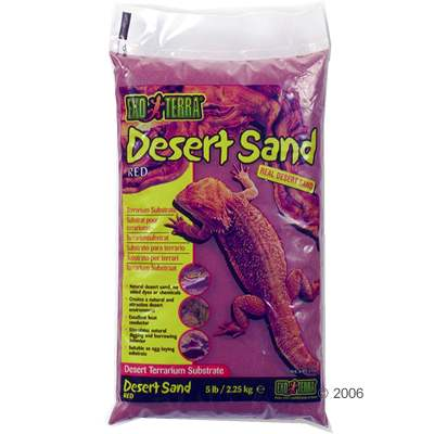 hagen exo terra desert zand terrariumsubstraat rood     4,5 kg
