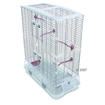hagen vision ii model l12,  vogelhuis groot, hoog     accessoires terracotta, traliesafstand ca. 10 mm