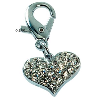 hanger hart met stras     2 cm