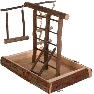 trixie speeltuin natural living voor parkieten     maten 28cm x  22cm x  25cm