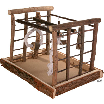 trixie speeltuin natural living voor parkieten     maten 35cm x 29cm x 25cm