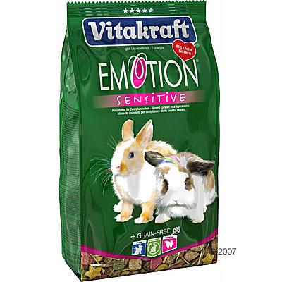 Vitakraft emotion sensitive dwergkonijn     600 g van kantoor artikelen tip.