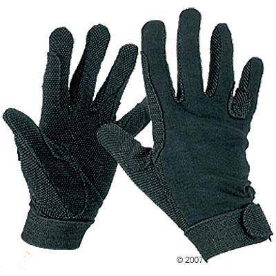 jersey rijhandschoenen zwart uit katoen     l