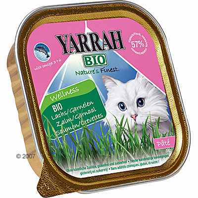 yarrah bio wellness paté 6 x 100 g     kip & kalkoen met aloe vera