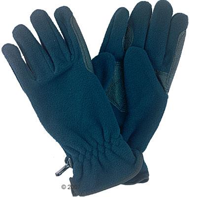 fleece rijhandschoen     blauw, maat m