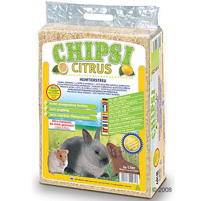 chipsi citrus knaagdierenstrooisel      60 liter (ca. 3,5 kg)