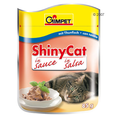 gimpet shiny cat in saus 6 x 85 g     tonijn