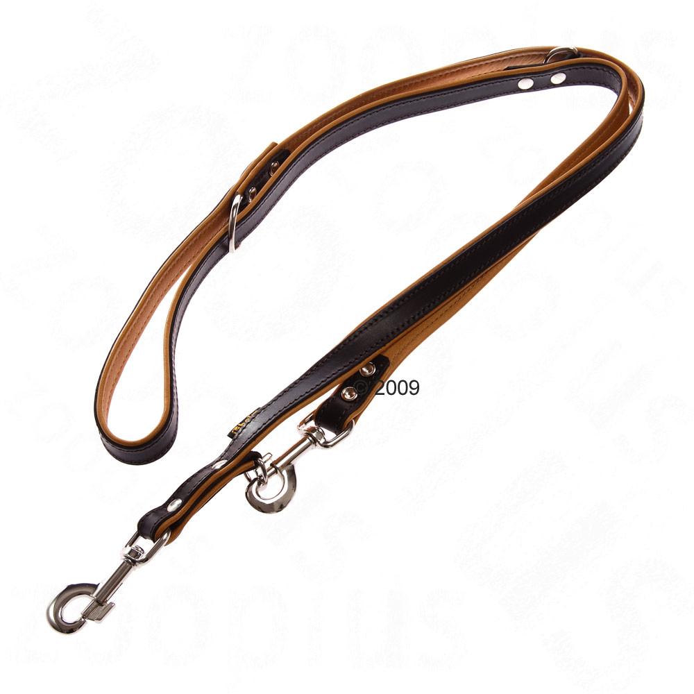 hondenlijn bruin/cognac     2 m lang, 1,8 cm breed
