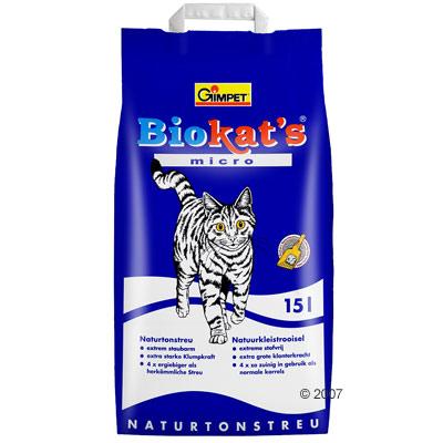 biokats micro kattenbakvulling     15 l