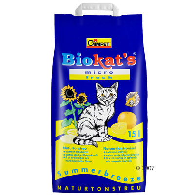 biokats micro fresh kattenbakvulling     15 l