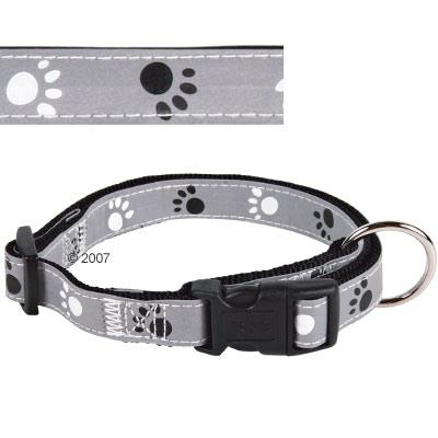 trixie halsband poten grijs, reflecterend     l xl, 40   65 cm lang, 25 mm breed
