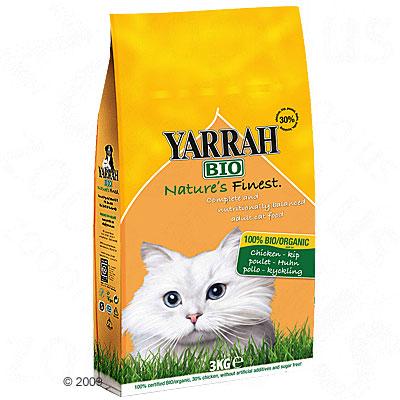 Yarrah bio kattenvoer met kip     2 x 10 kg van kantoor artikelen tip.