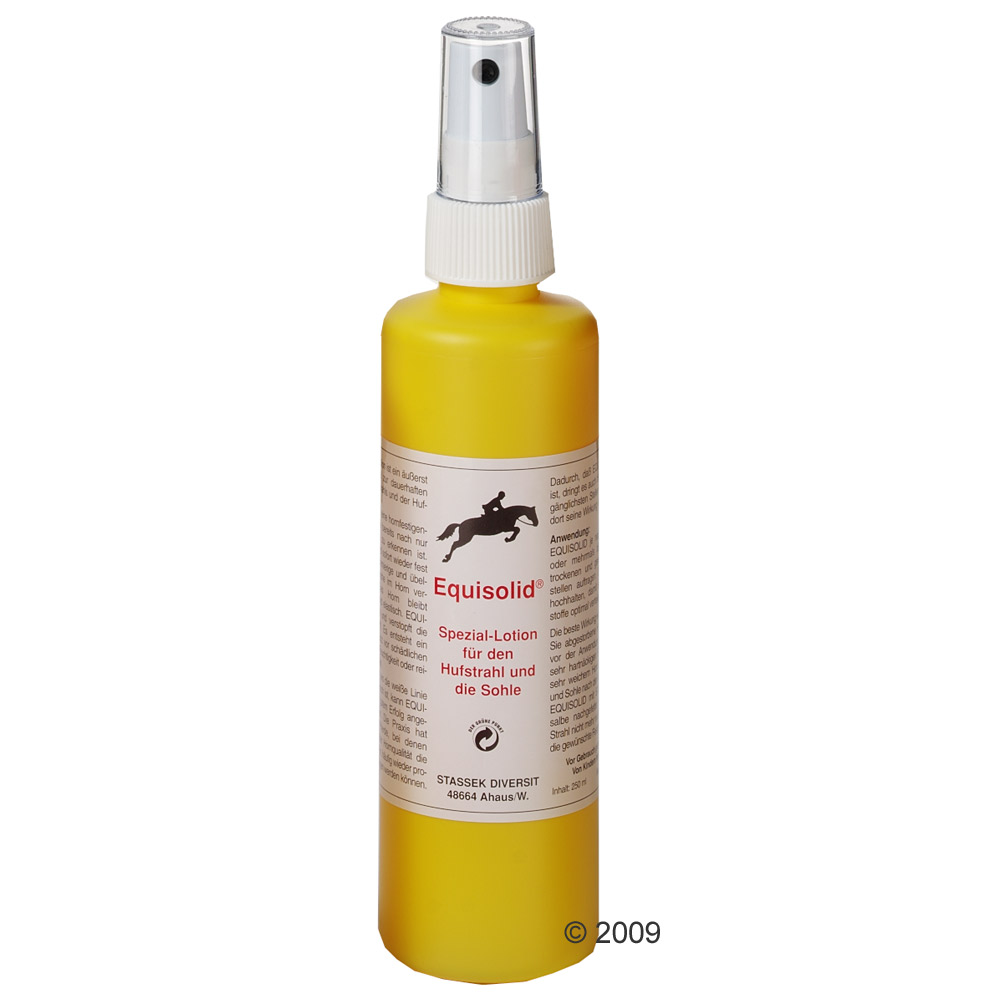 equisolid speciaal lotion voor hoefstraal en zool     250 ml (fles met sproeier)