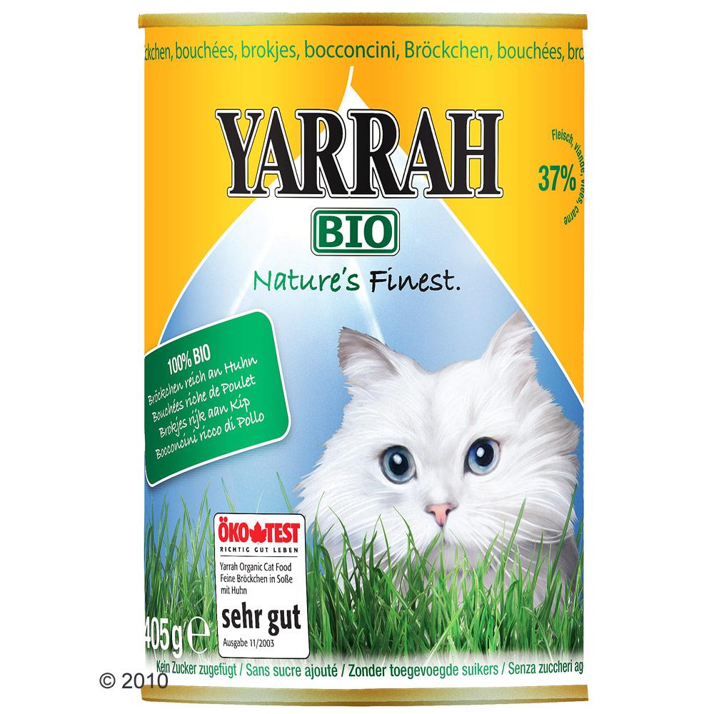 yarrah bio brokjes 6 x 405 g      kip in saus