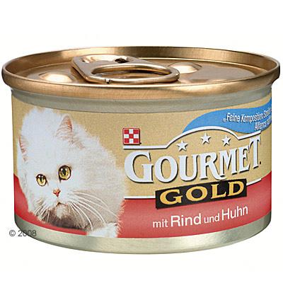 megapack gourmet gold fijne compositie 24 x 85 g     eend & truthahn