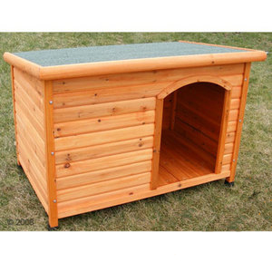Vlakdak hondenhok woody     maat m: l 104 x b 66 x h 70 cm van kantoor artikelen tip.