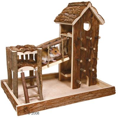 trixie birger speelplaats gemaakt van natuurhout     l 36 x b 33 x h 26 cm